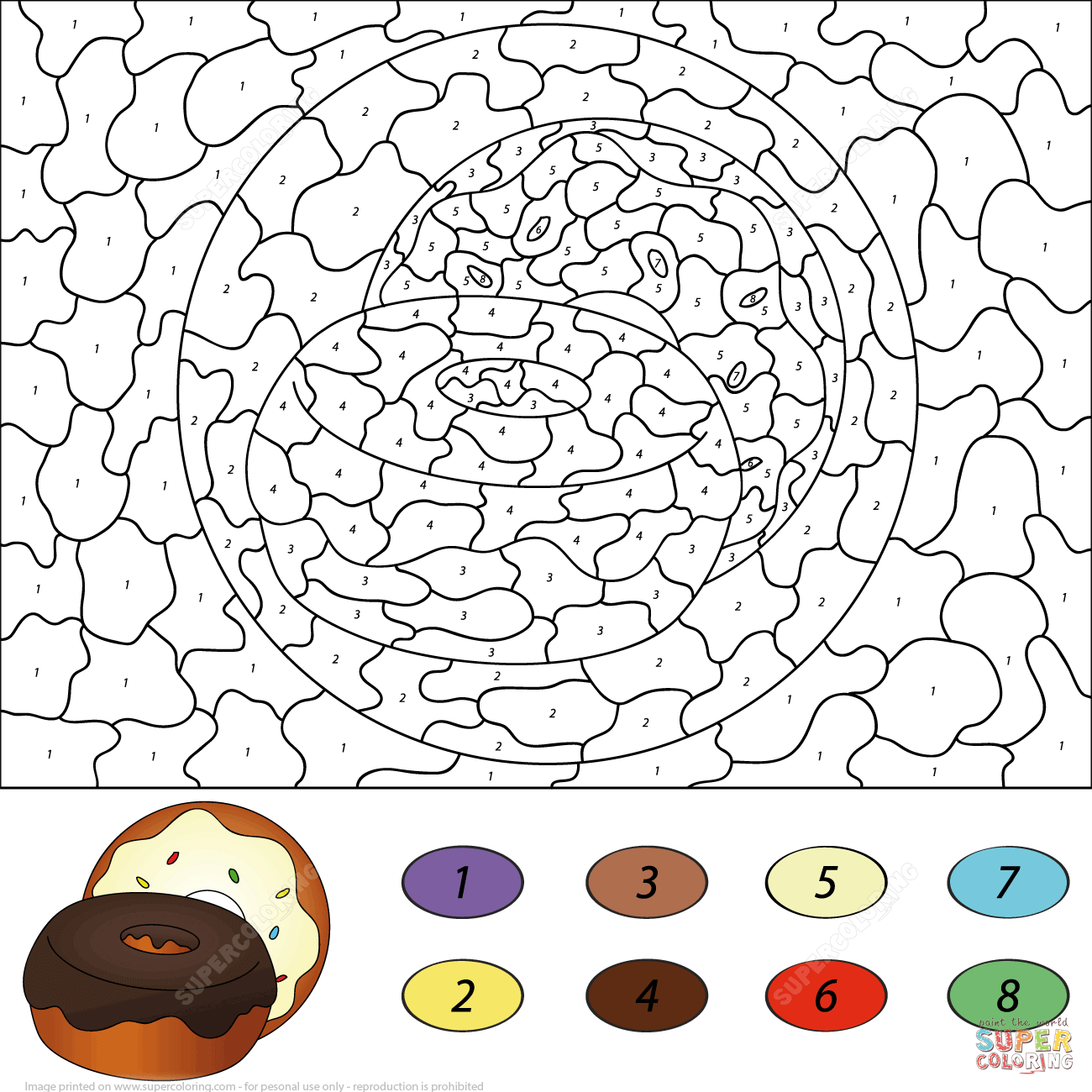 Donuts Color By Number