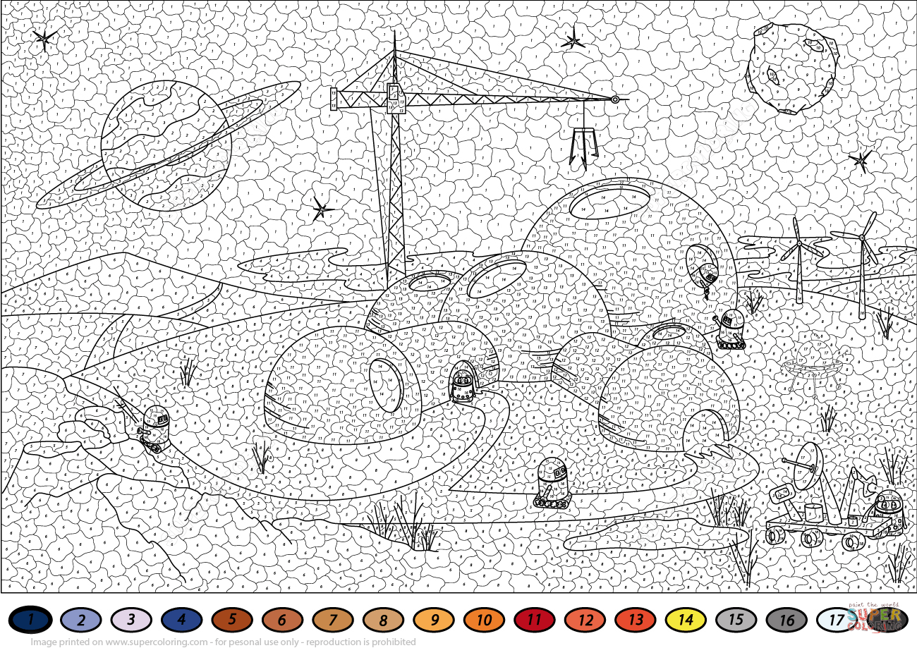 Colonisation Of Mars Color By Number