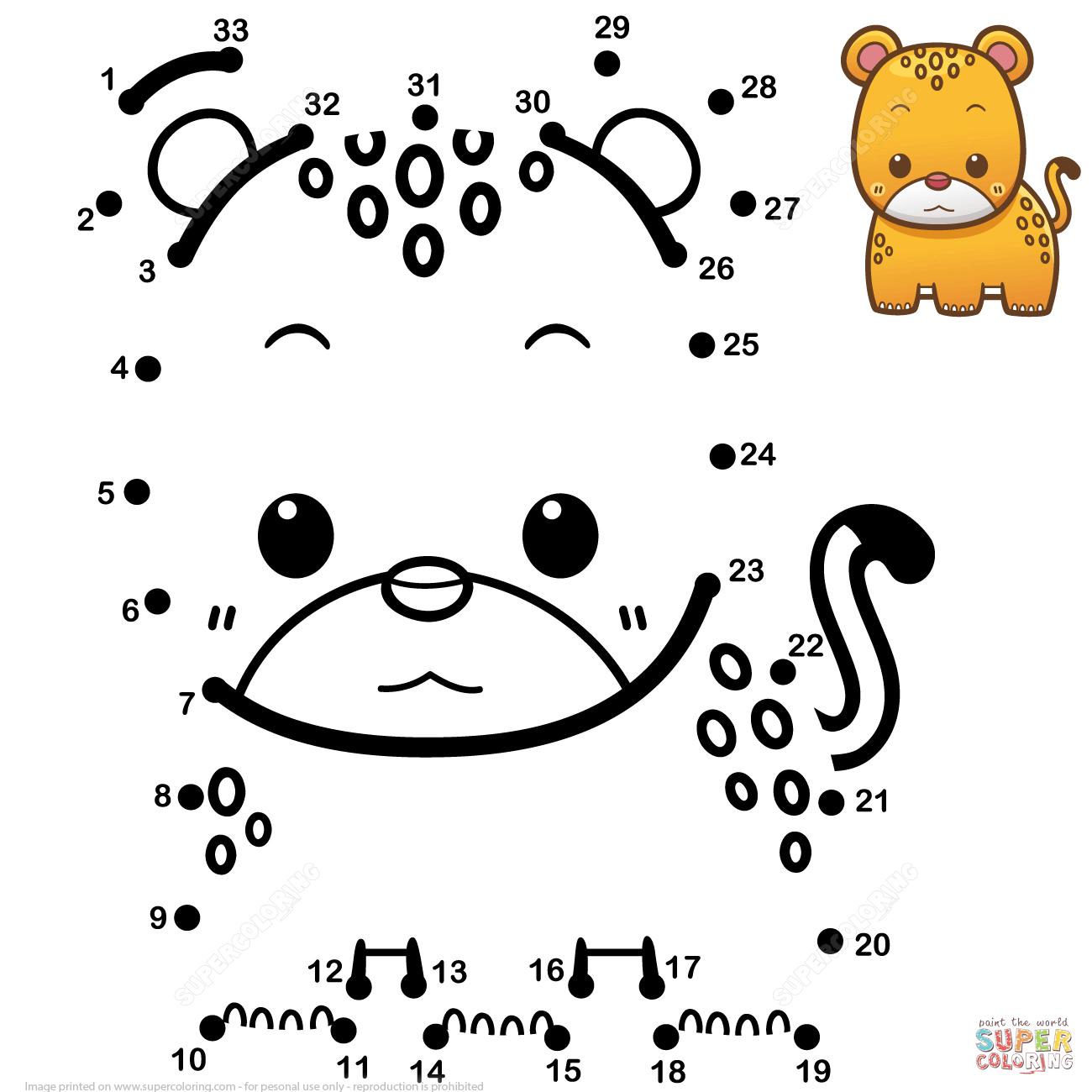 Cute Baby Jaguar Dot To Dot