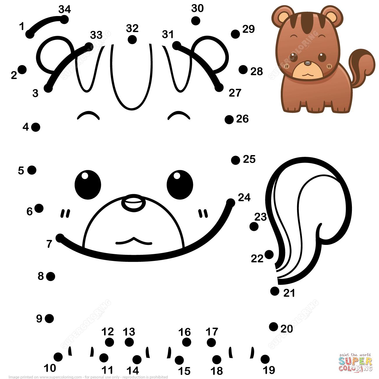 Nuttet Baby Egern Prik Til Prik