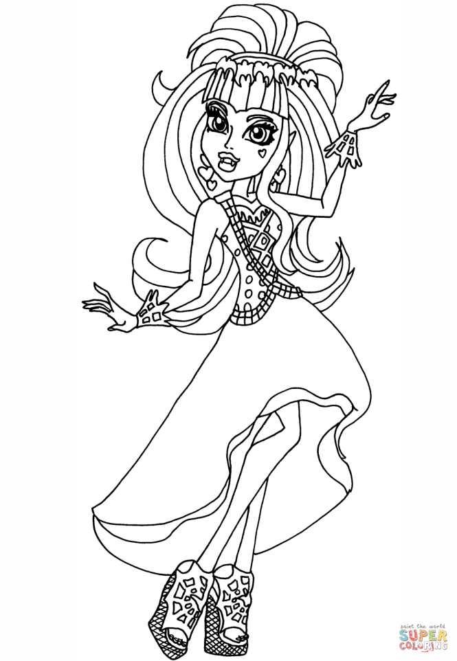 monster high coloring pages 13 wishes | Coloring Page for kids