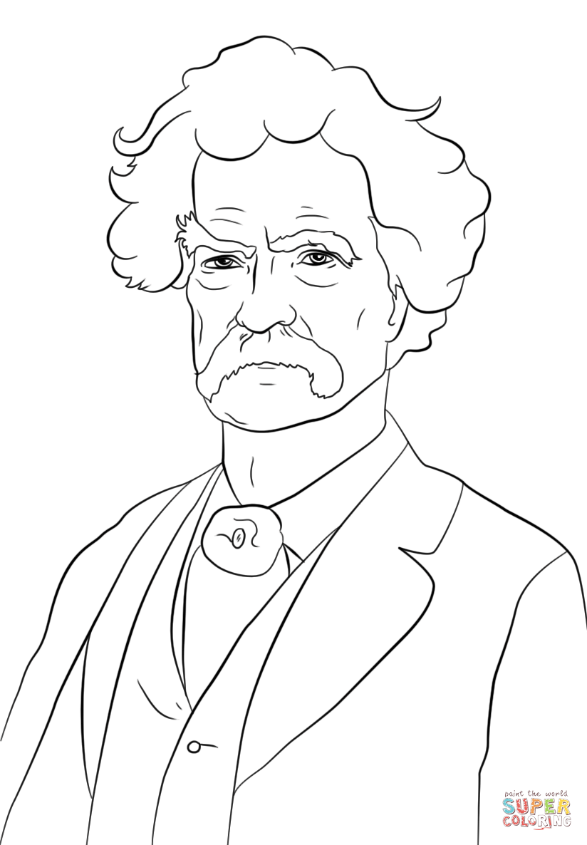 Mark Twain Coloring Page Free Printable Coloring Pages
