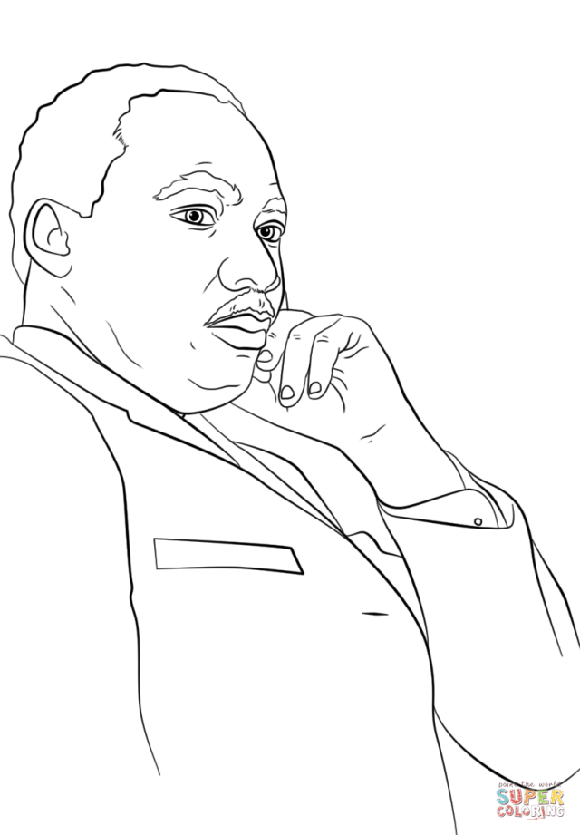 Martin Luther King, Jr. coloring page  Free Printable Coloring Pages