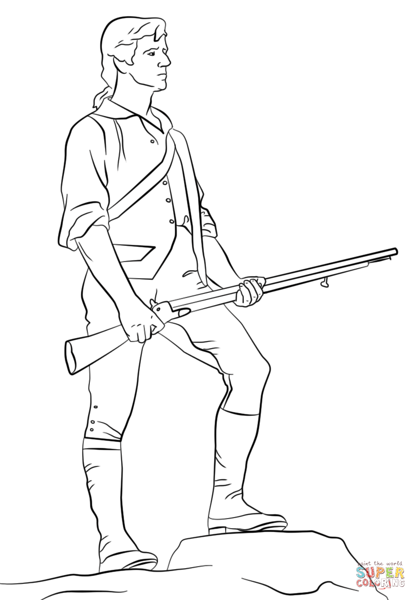 Revolutionary War solder coloring pages: 11 historic uniforms ... | 1186x824