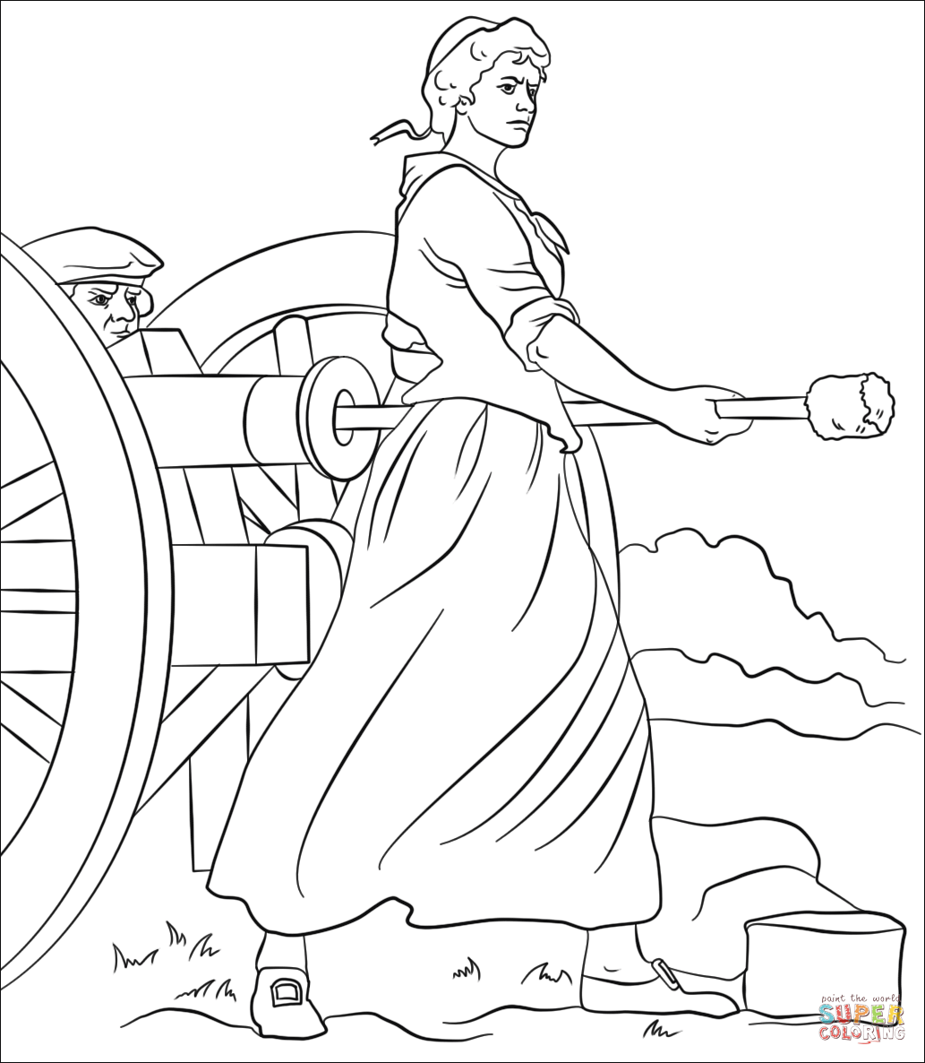 Molly Pitcher Coloring Page