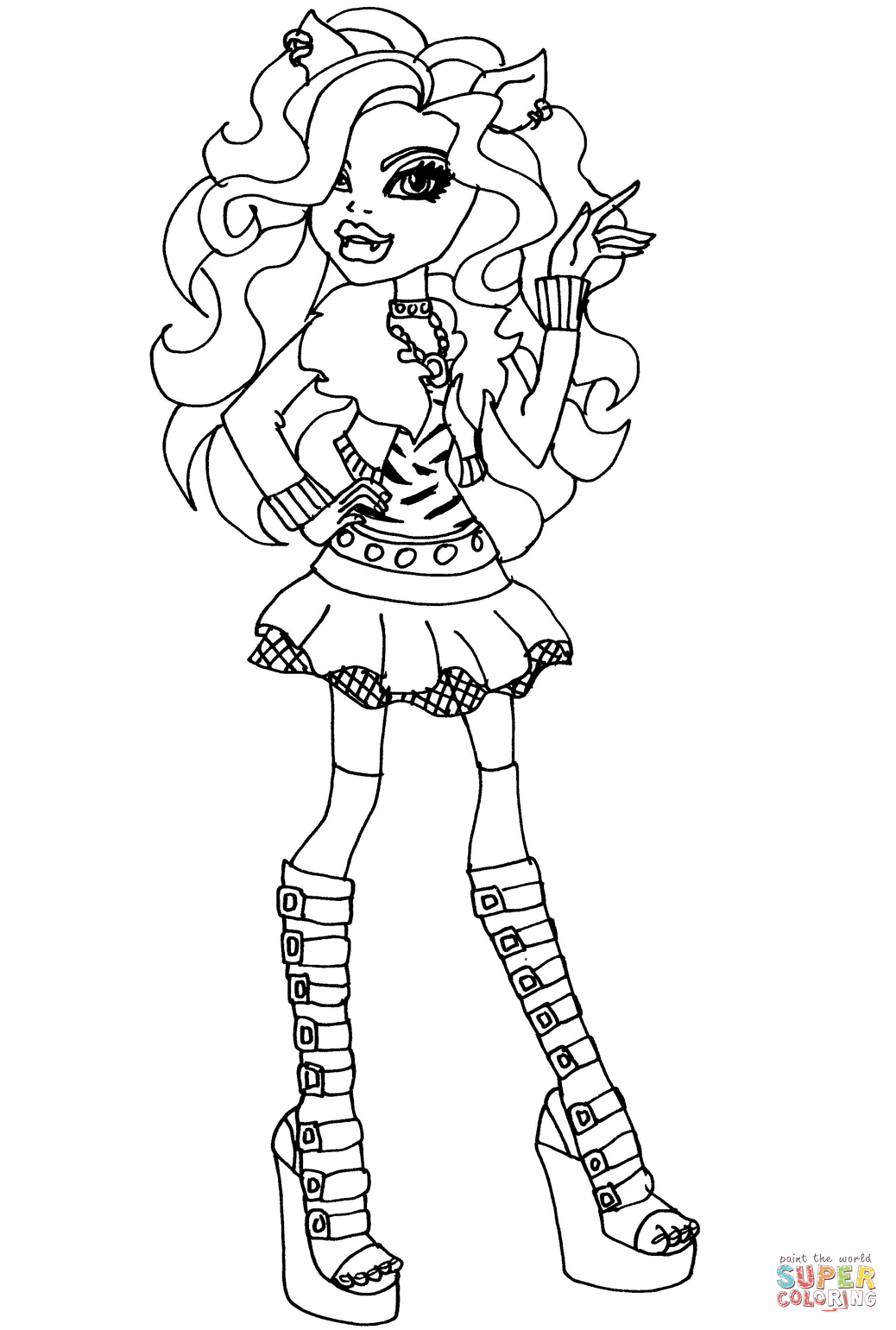 Monster High Clawdeen Wolf Coloring Page