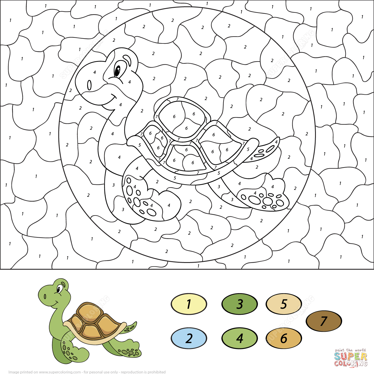 Ninja Turtle Math Worksheet