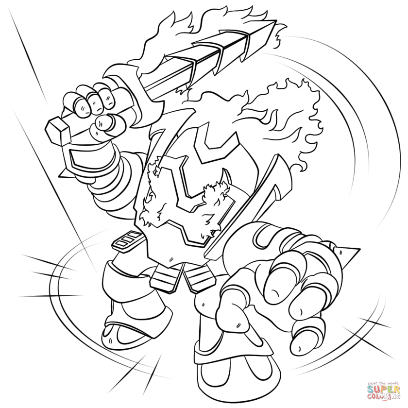 skylanders ignitor coloring page  free printable coloring