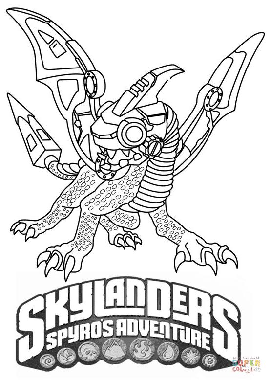 Ausmalbild Skylanders Spyros Adventure Drobot