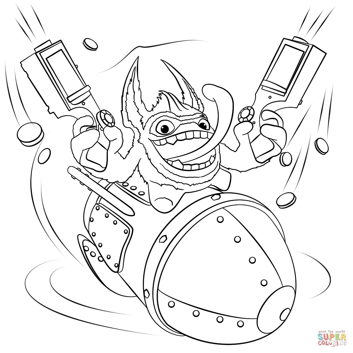 Skylanders Trigger Happy Coloring Page