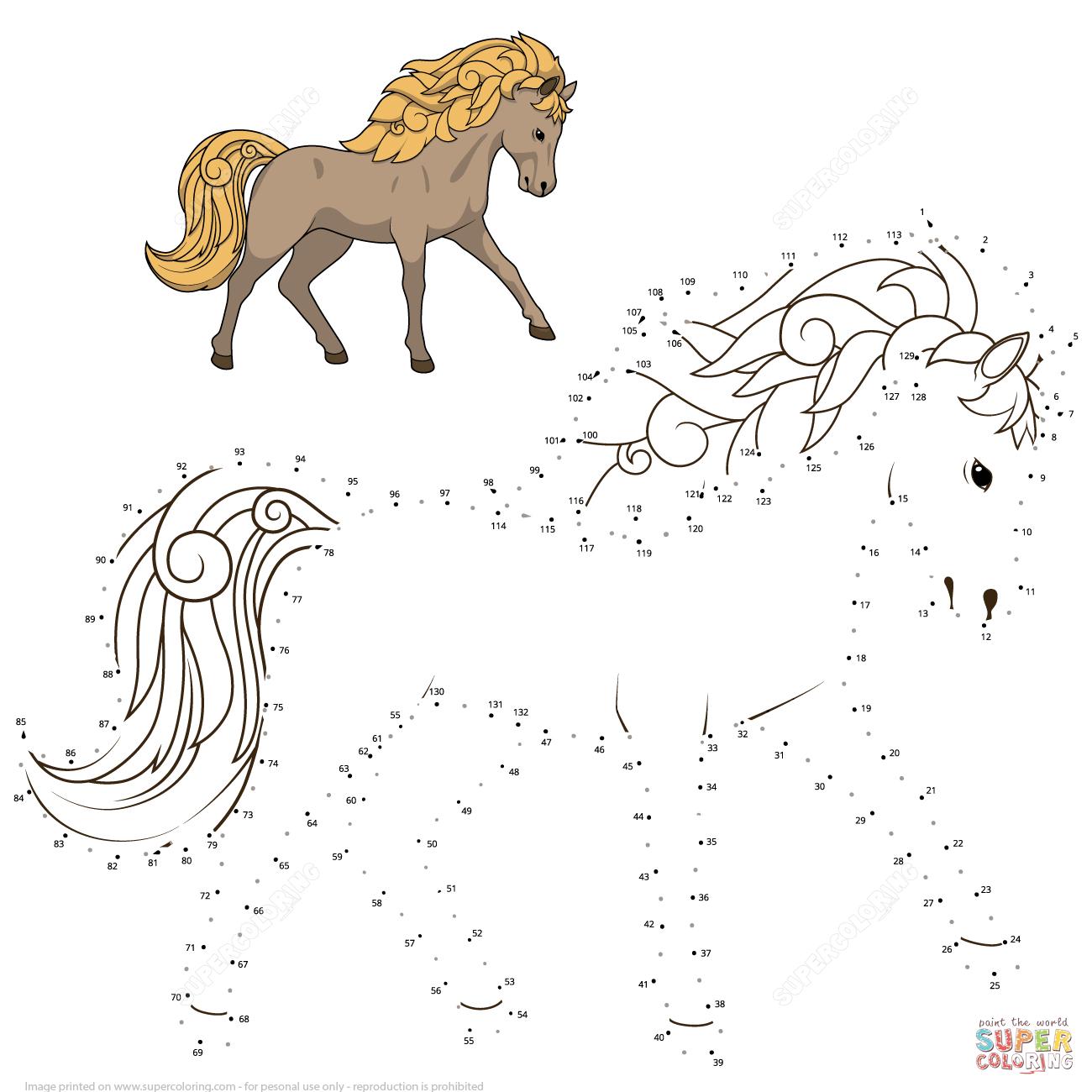 Wild Horse Dot To Dot