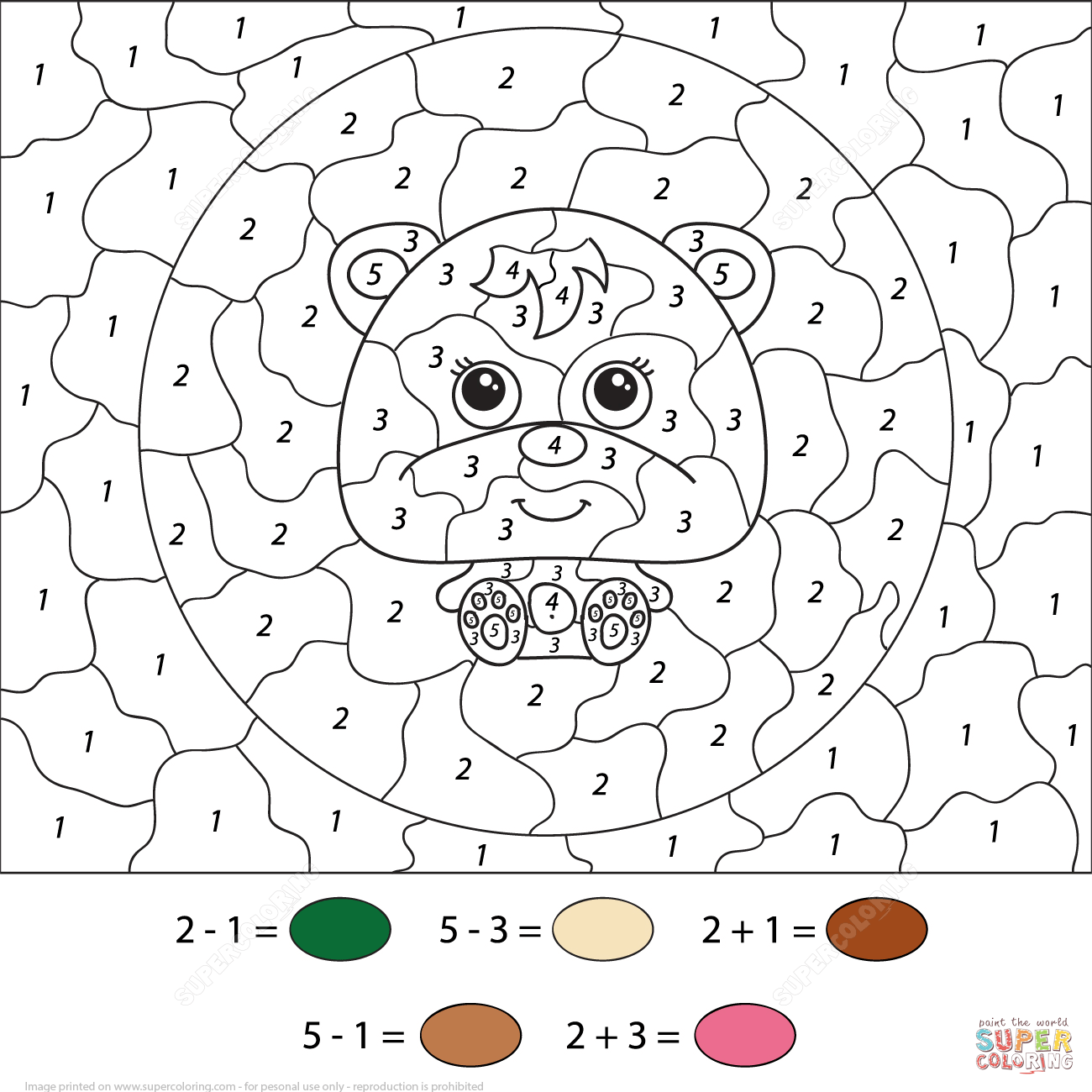 color by number worksheets coloring pages free coloring pages