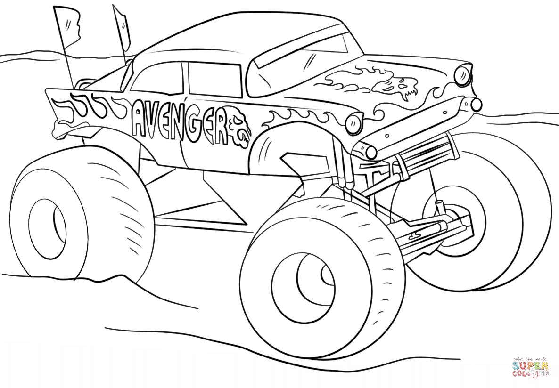 Avenger Monster Truck Kleurplaat
