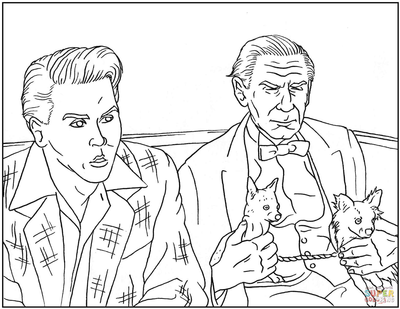 Ed Wood Scene Coloring Page
