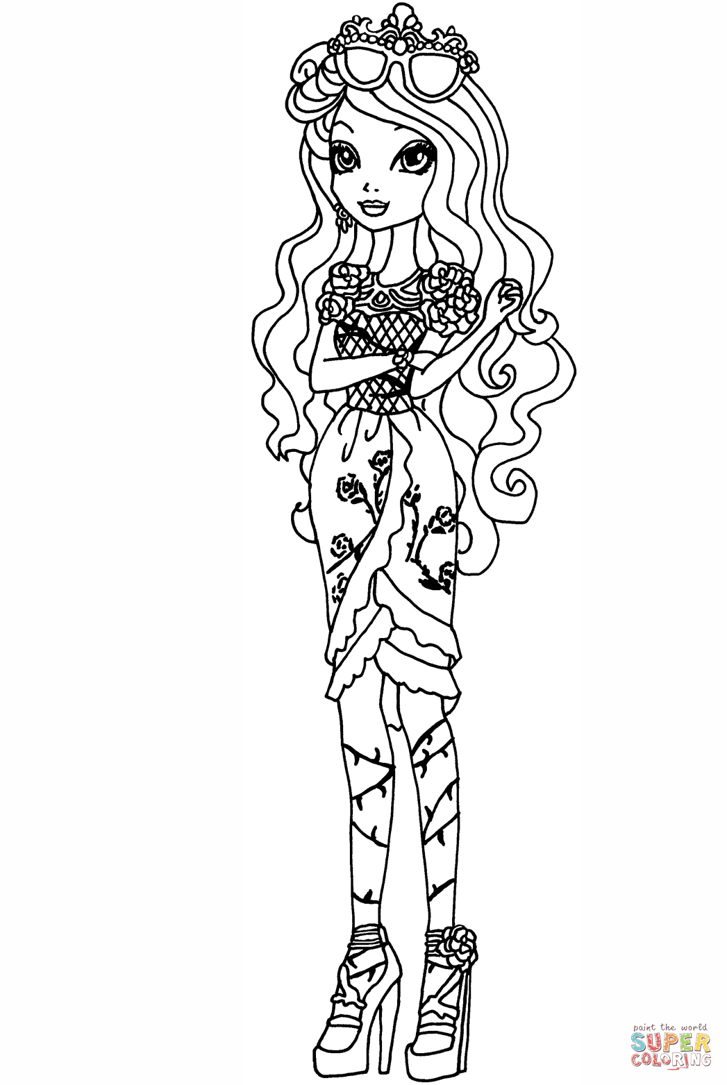 Gambar Ever After High Holly O Hair Coloring Page Free Jpeg Png Gif