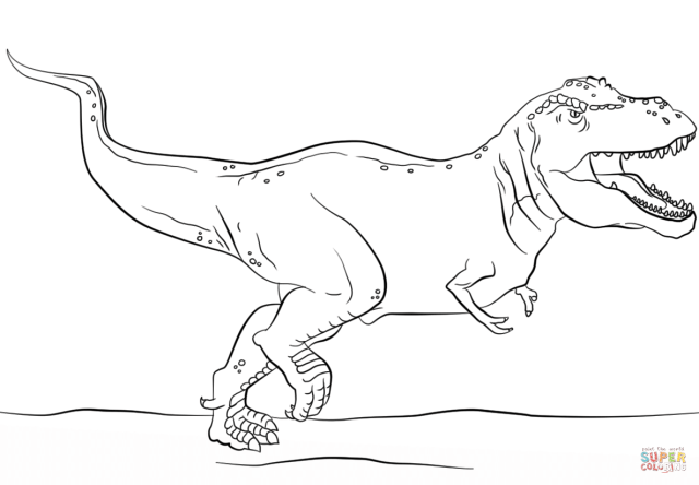 Jurassic Park T-Rex coloring page  Free Printable Coloring Pages
