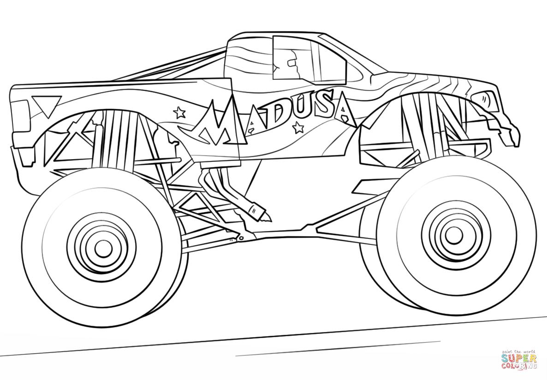 Madusa Monster Truck Tegninger