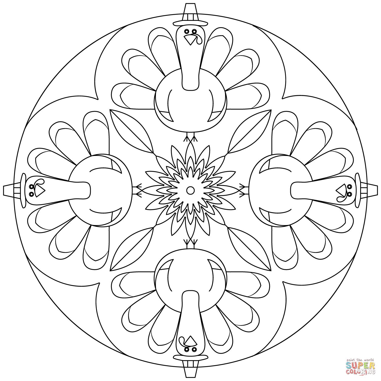 Thanksgiving Mandala Coloring Page Free Printable