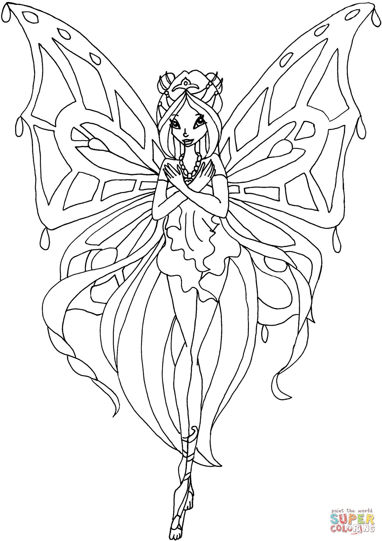 Ausmalbild Enchantix Flora Ausmalbilder Kostenlos Zum