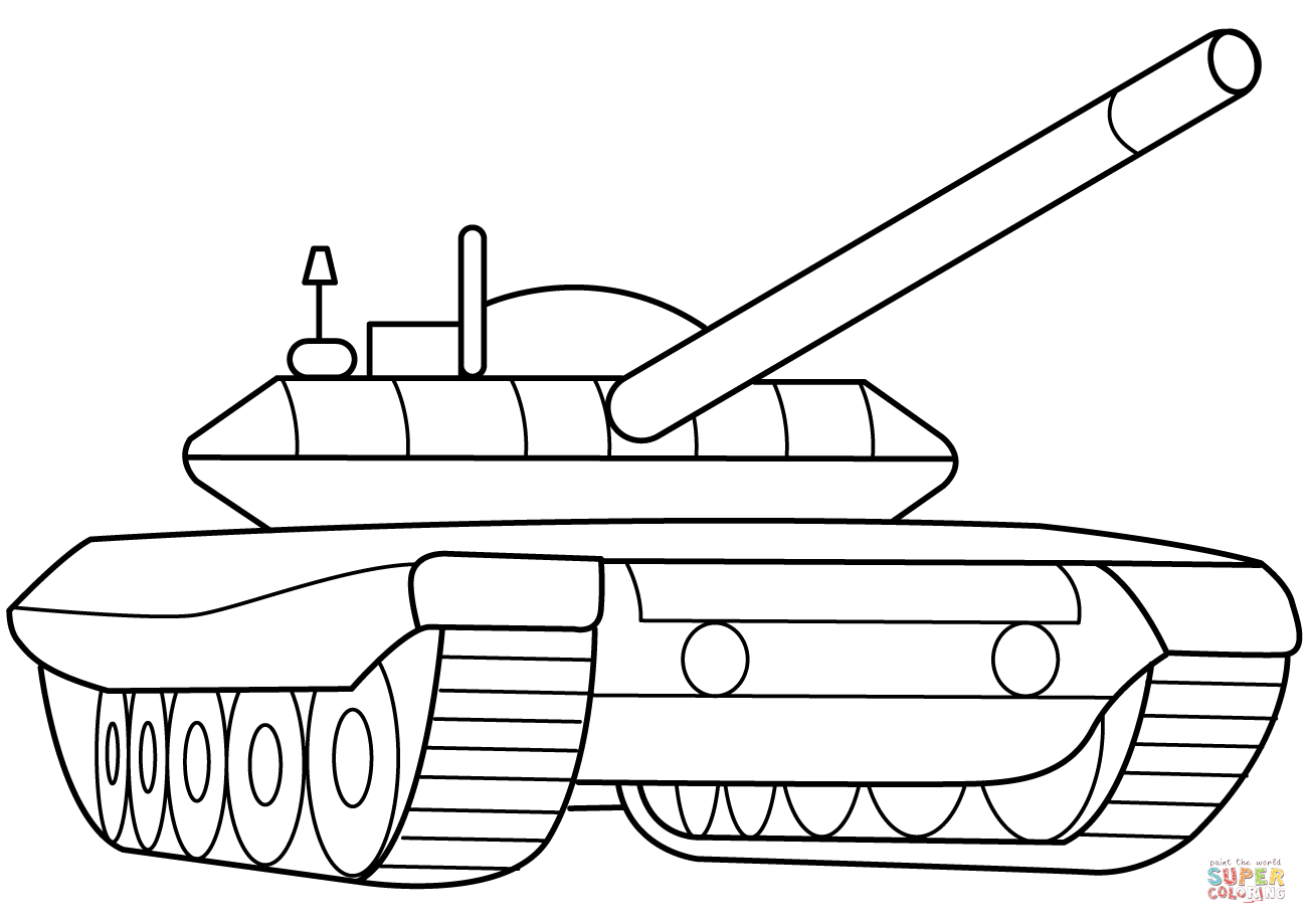 Military Armored Tank Coloring Page