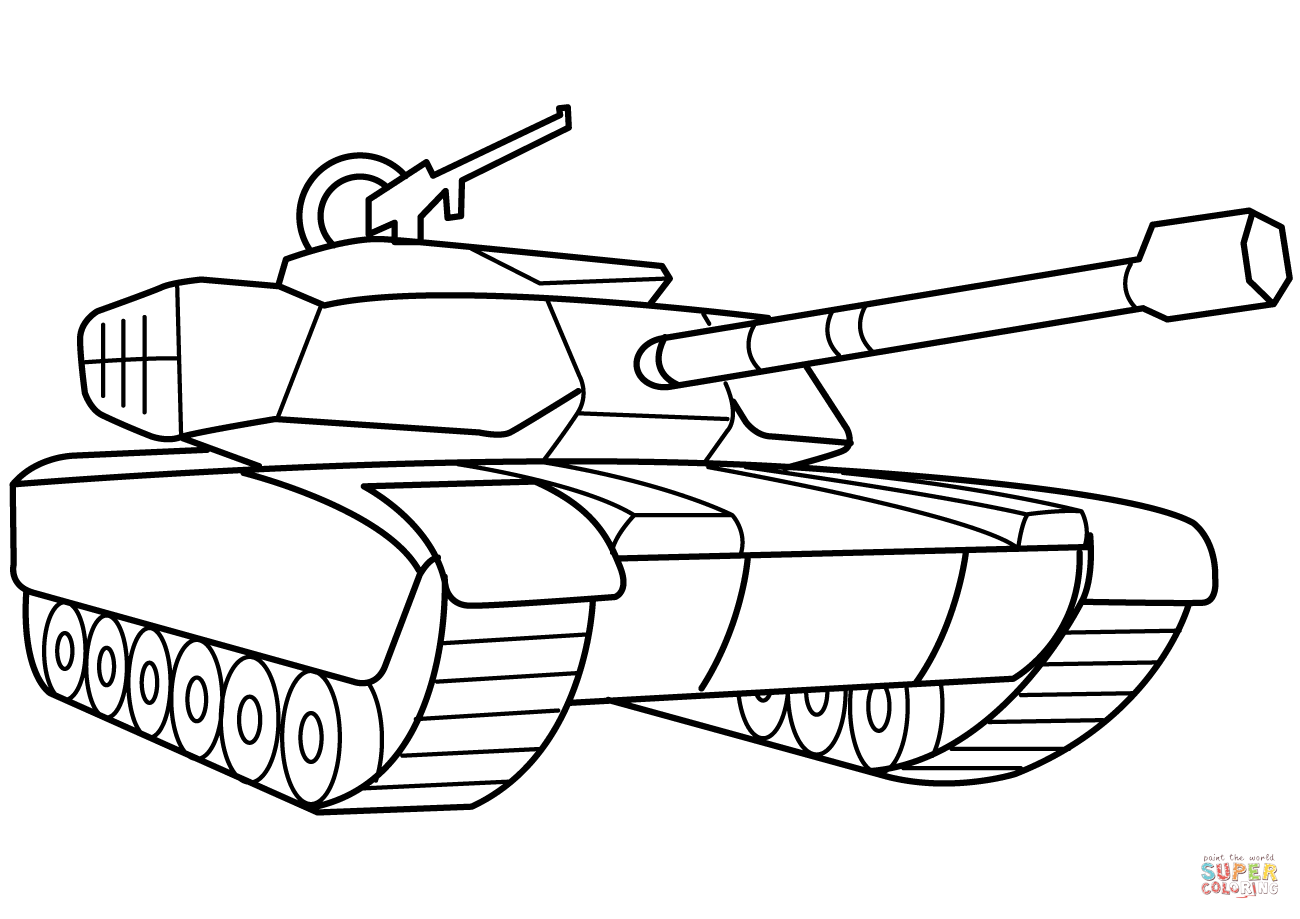 military tank coloring page free printable coloring pages