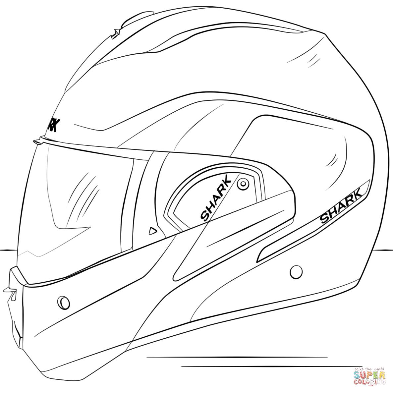 Motorcycle Helmet Coloring Page