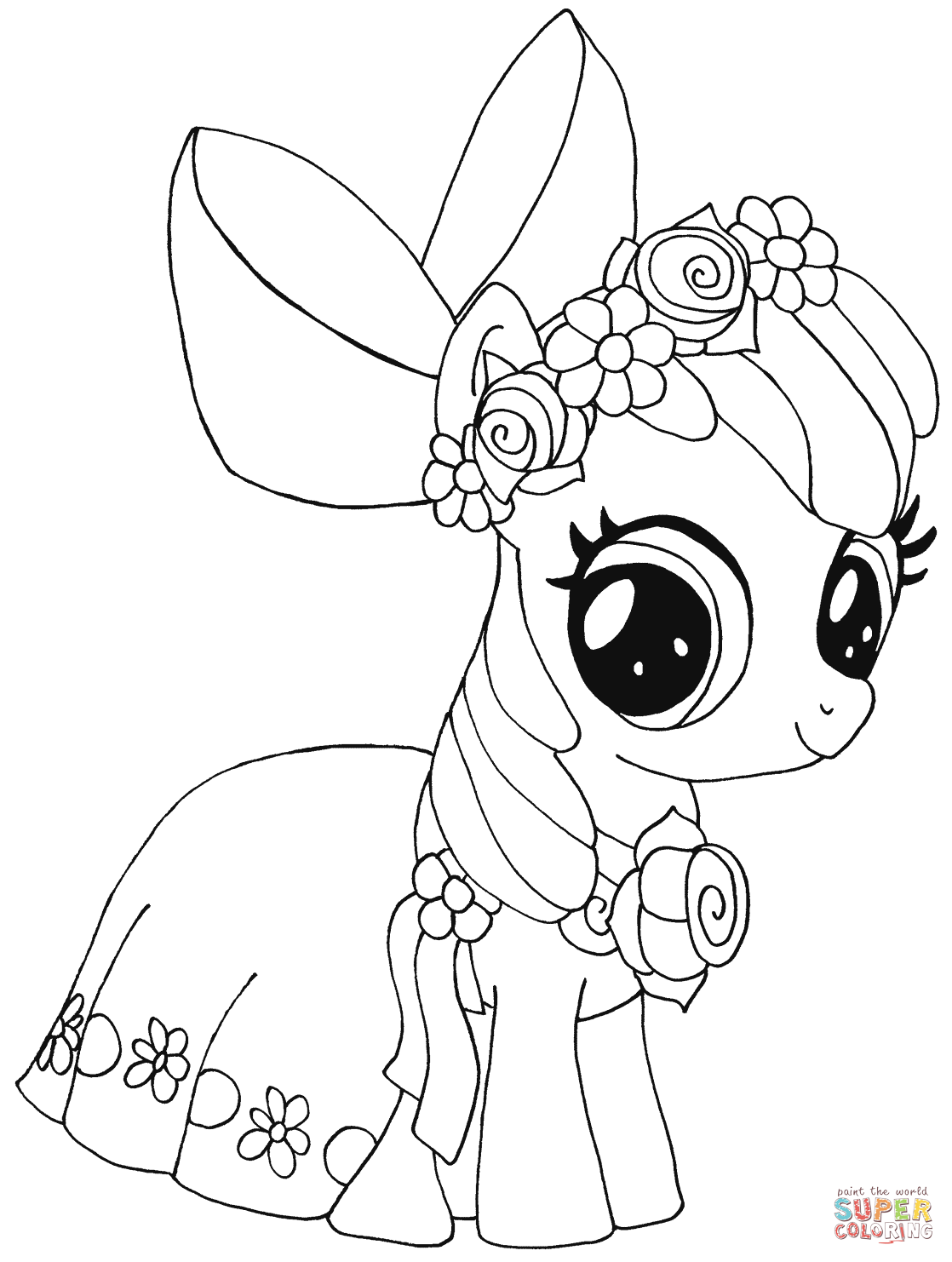My Little Pony Apple Bloom Coloring Page Free Printable Coloring Pages
