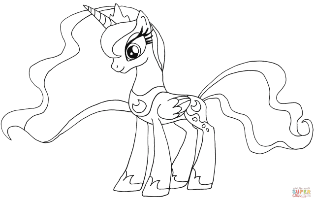 My Little Pony Princess Luna coloring page  Free Printable