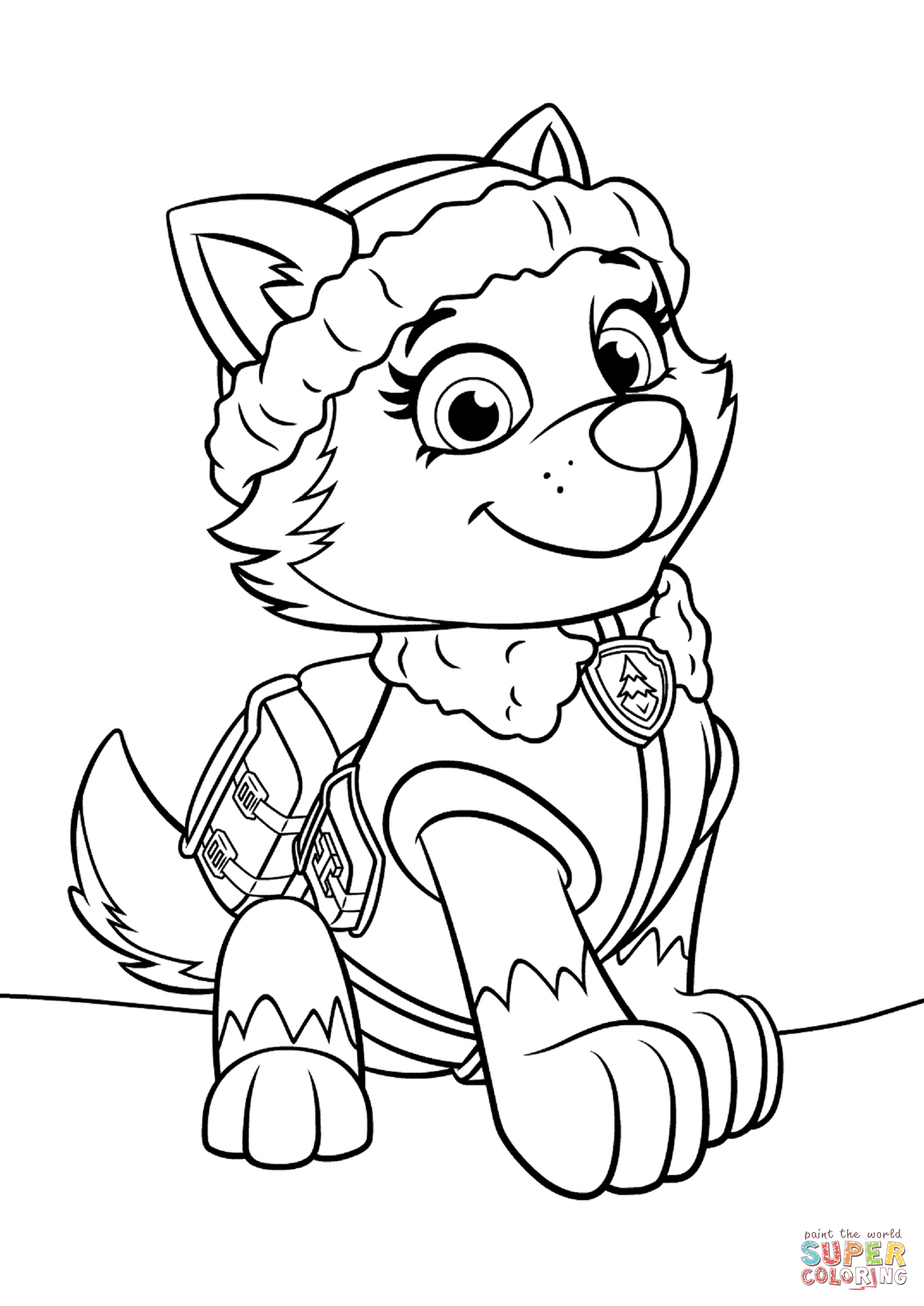 Paw Patrol Everest Coloring Page Free Printable Coloring Pages