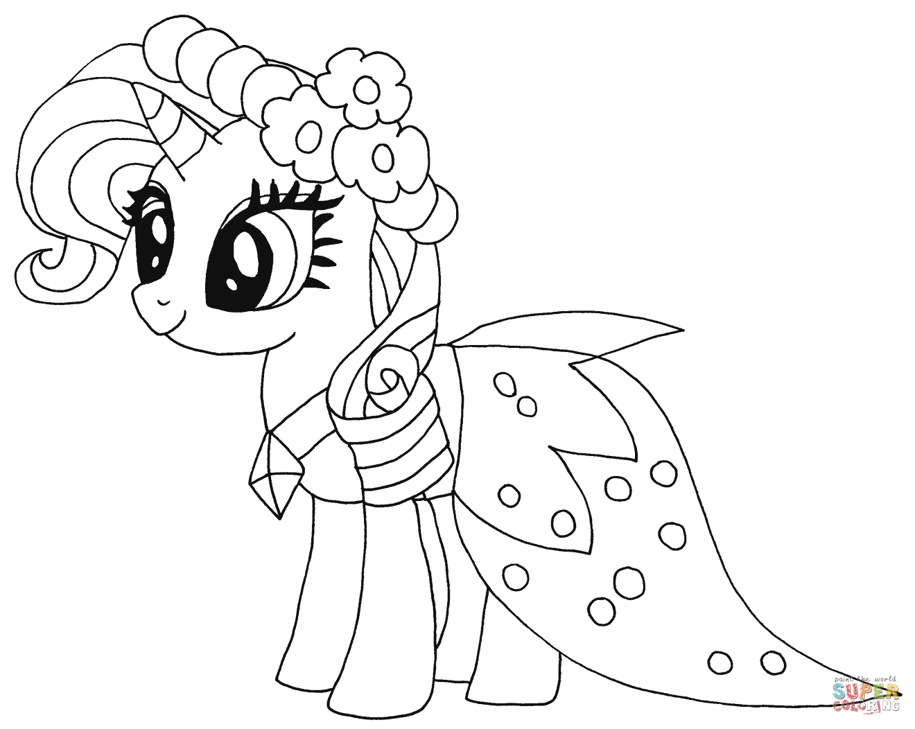 Princess Rarity Coloring Page
