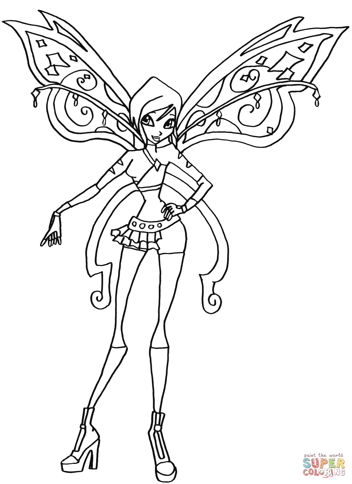 coloring pages also winx club daphne coloring pages furthermore winx