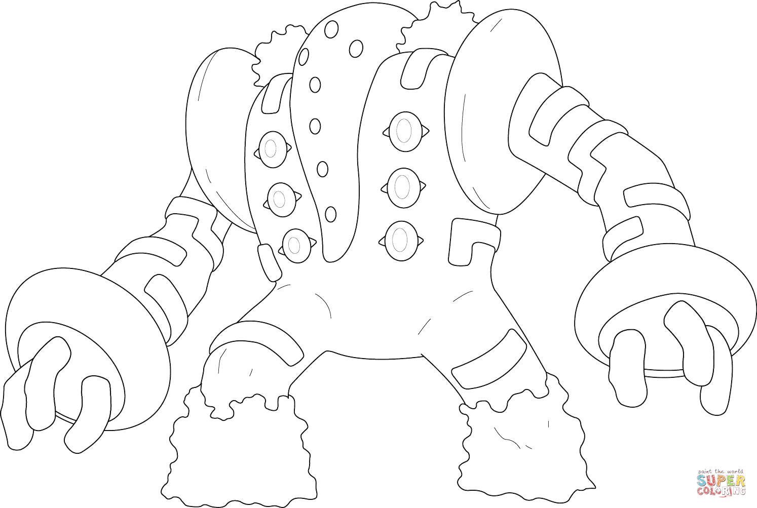 Regigigas Pokemon Coloring Page Free Printable Coloring Pages