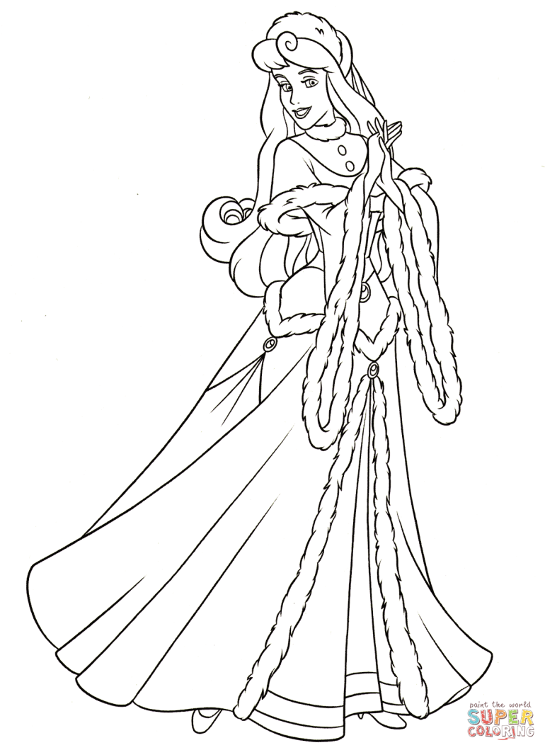 Aurora coloring page | Free Printable Coloring Pages | free printable princess aurora coloring pages