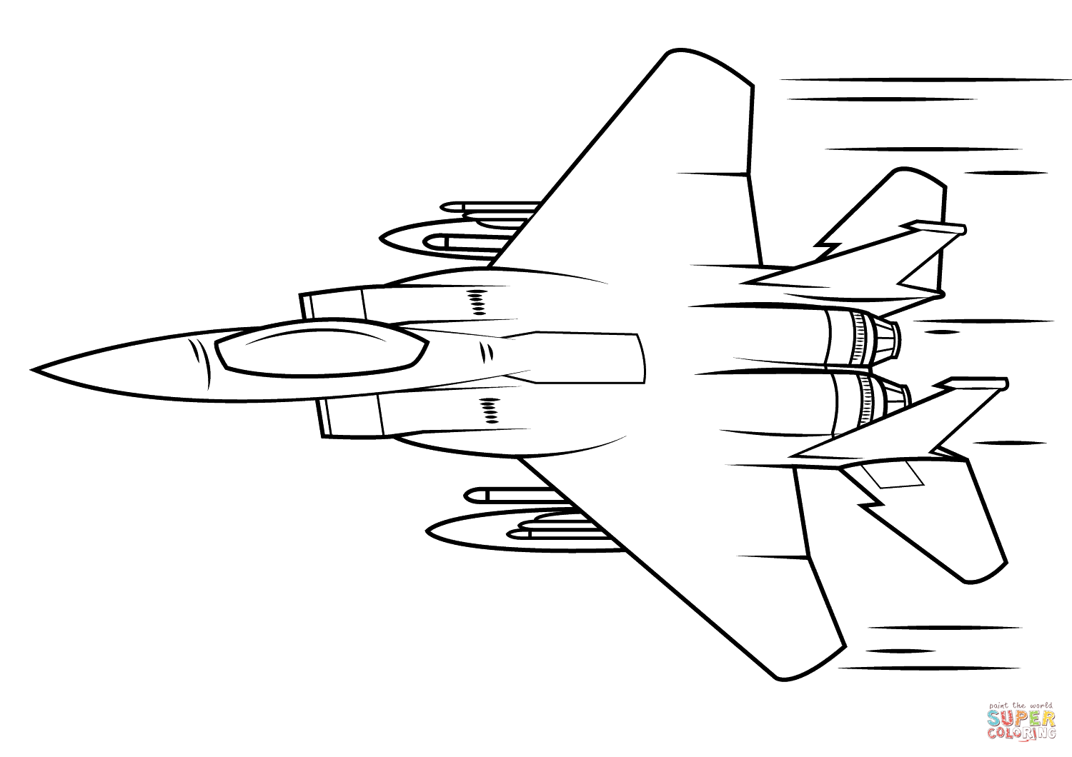 F 15 Eagle Coloring Page