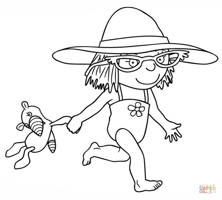 little princess goes swimming coloring page free printable