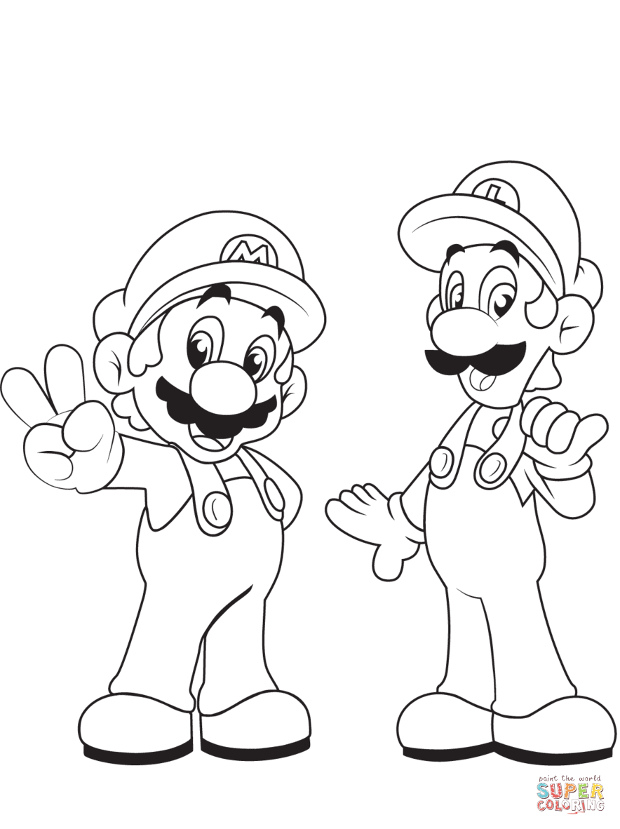 baby luigi coloring page free printable coloring pages
