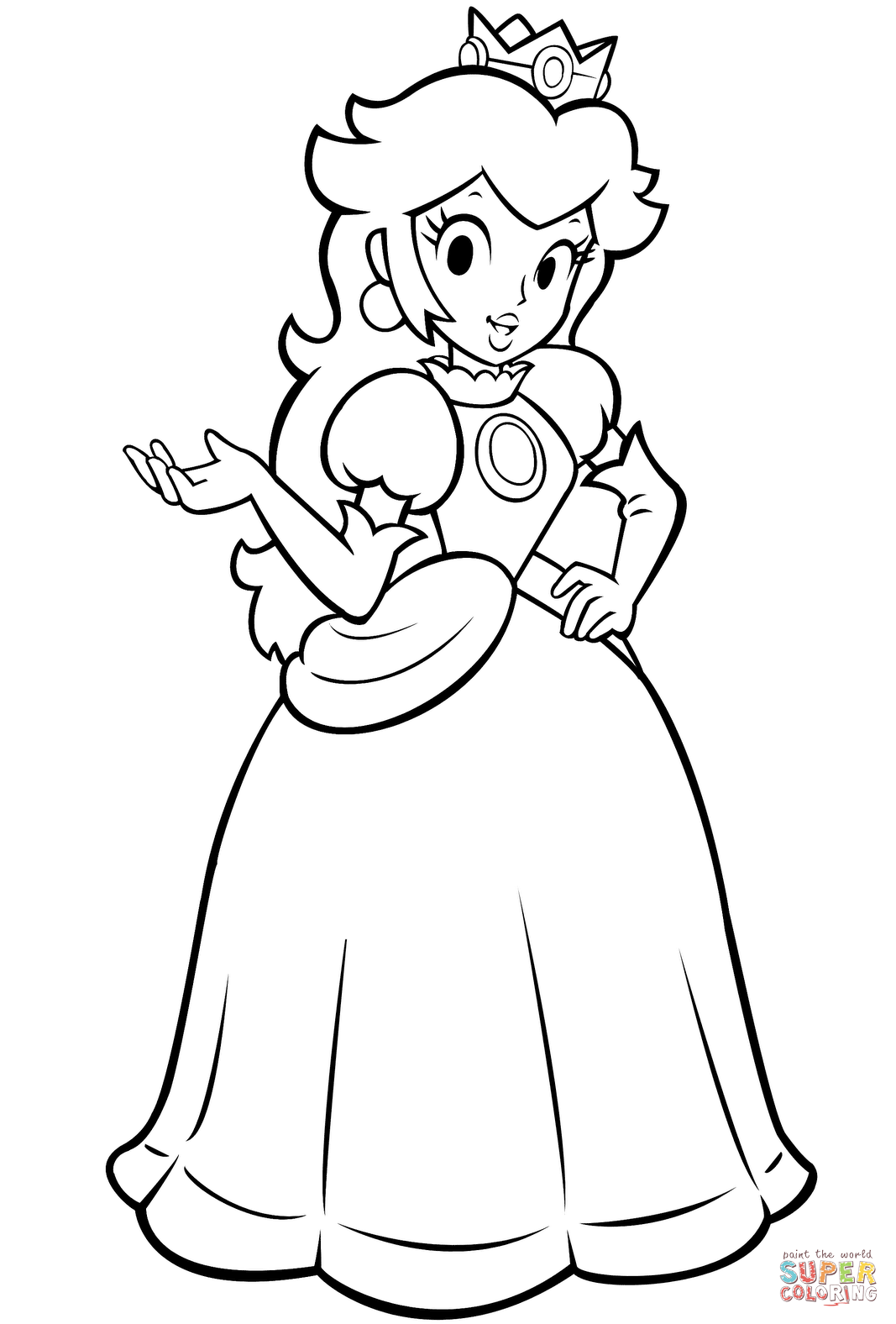 click the pretty princess peach coloring pages to view printable