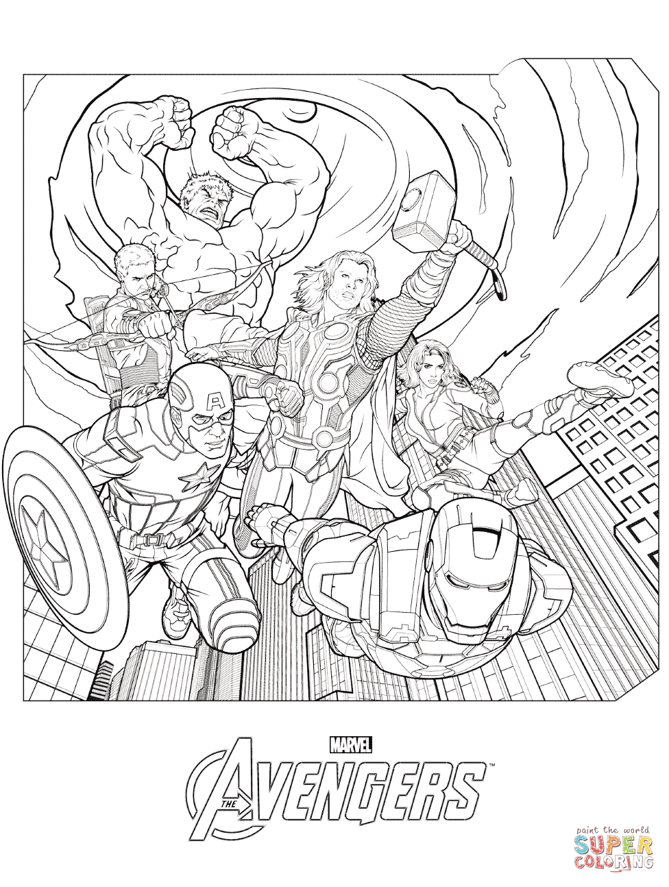 marvel 39 s the avengers coloring pages free coloring pages