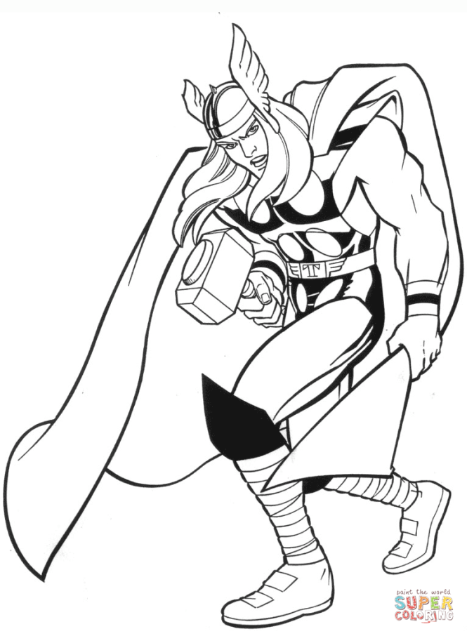 Click The Marvel Thor Coloring Pages To View Printable