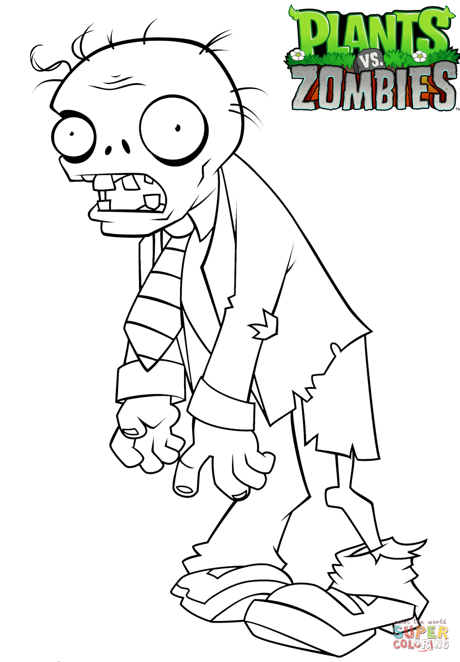 plants vs zombies coloring page free printable coloring pages