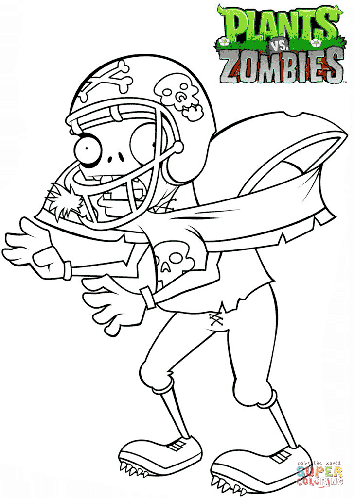 plants vs zombies coloring pages zombie colouring pages