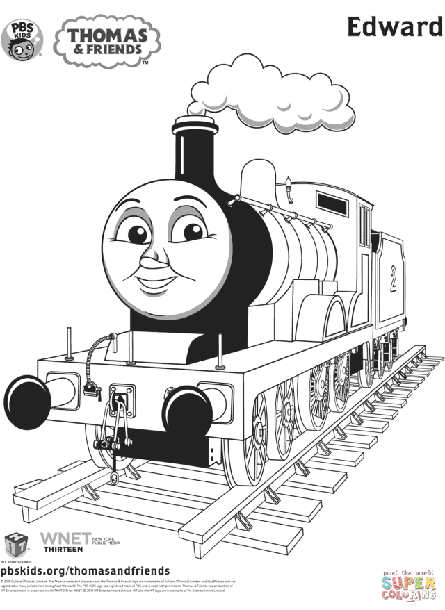 Edward from Thomas & Friends coloring page  Free Printable