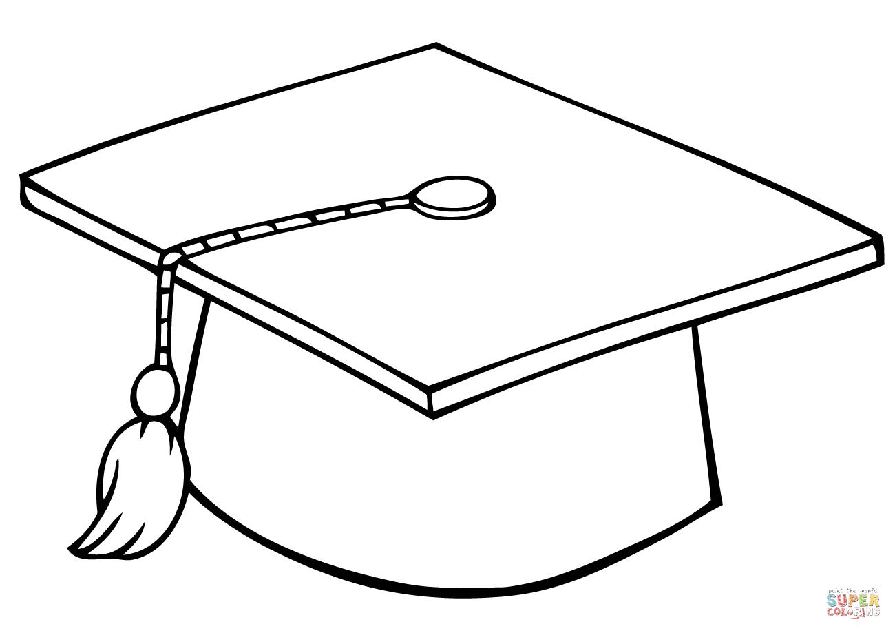 Graduate Cap Coloring Page
