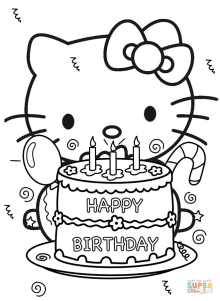 Hello Kitty Coloring Book Pdf
