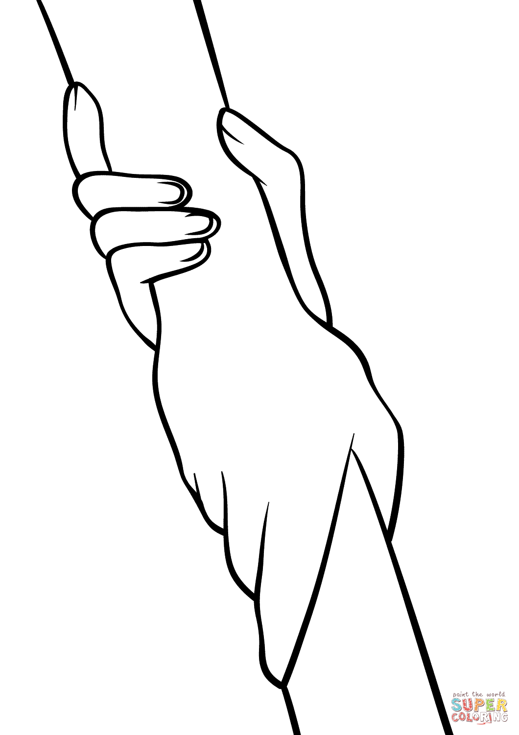 Helping Hands Coloring Page Free Printable Coloring Pages