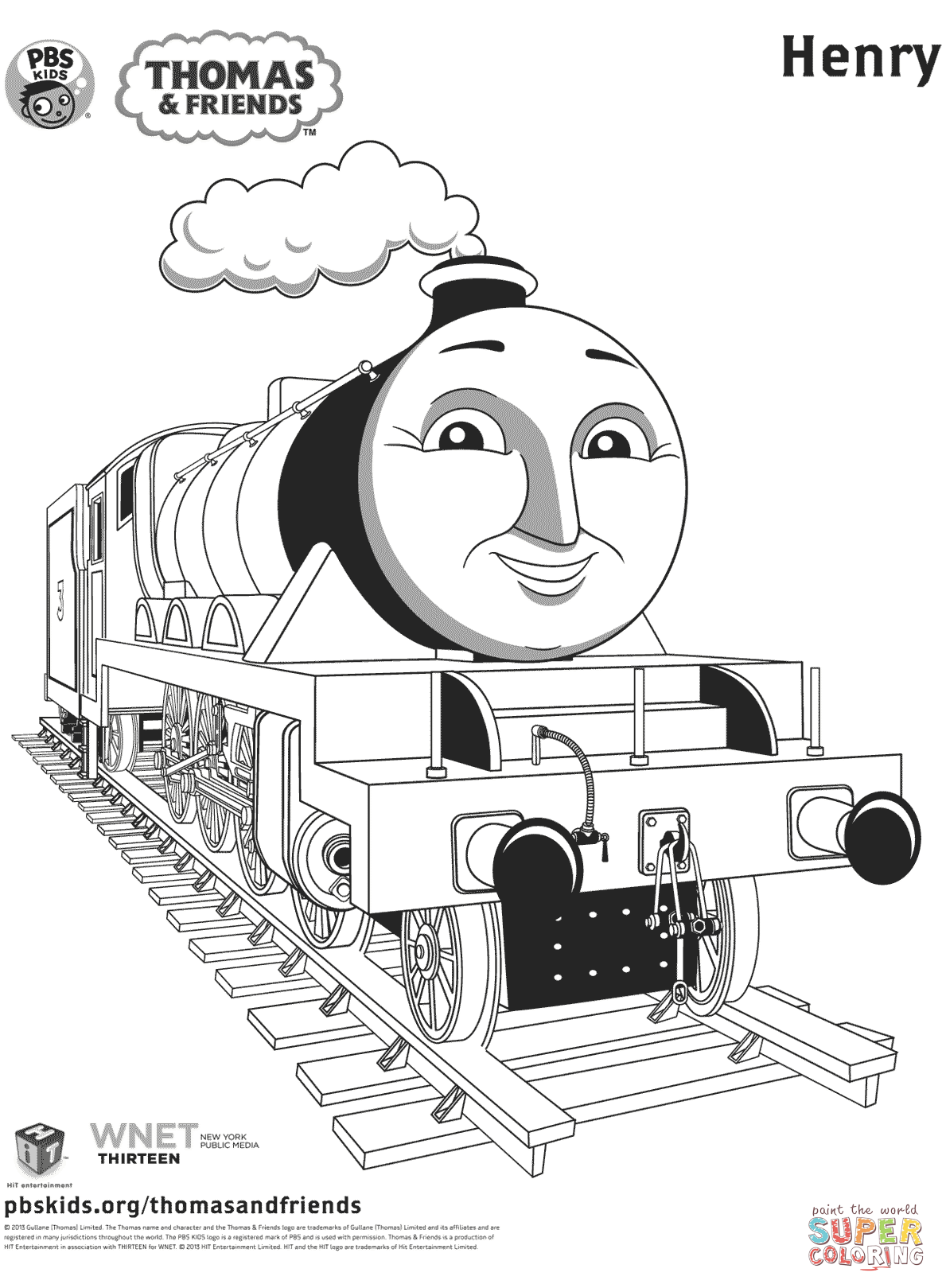 Henry From Thomas Amp Friends Coloring Page