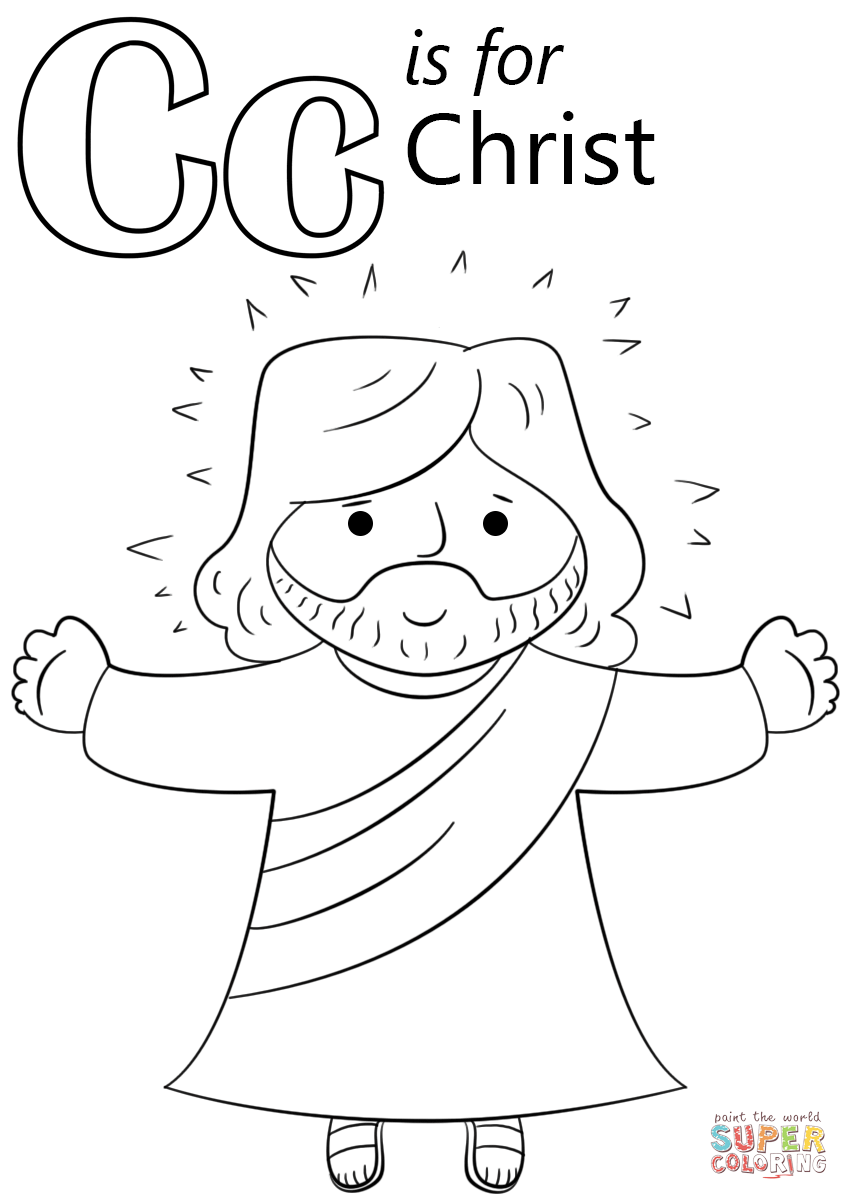 Letter C Is For Christ Coloring Page Free Printable Coloring Pages