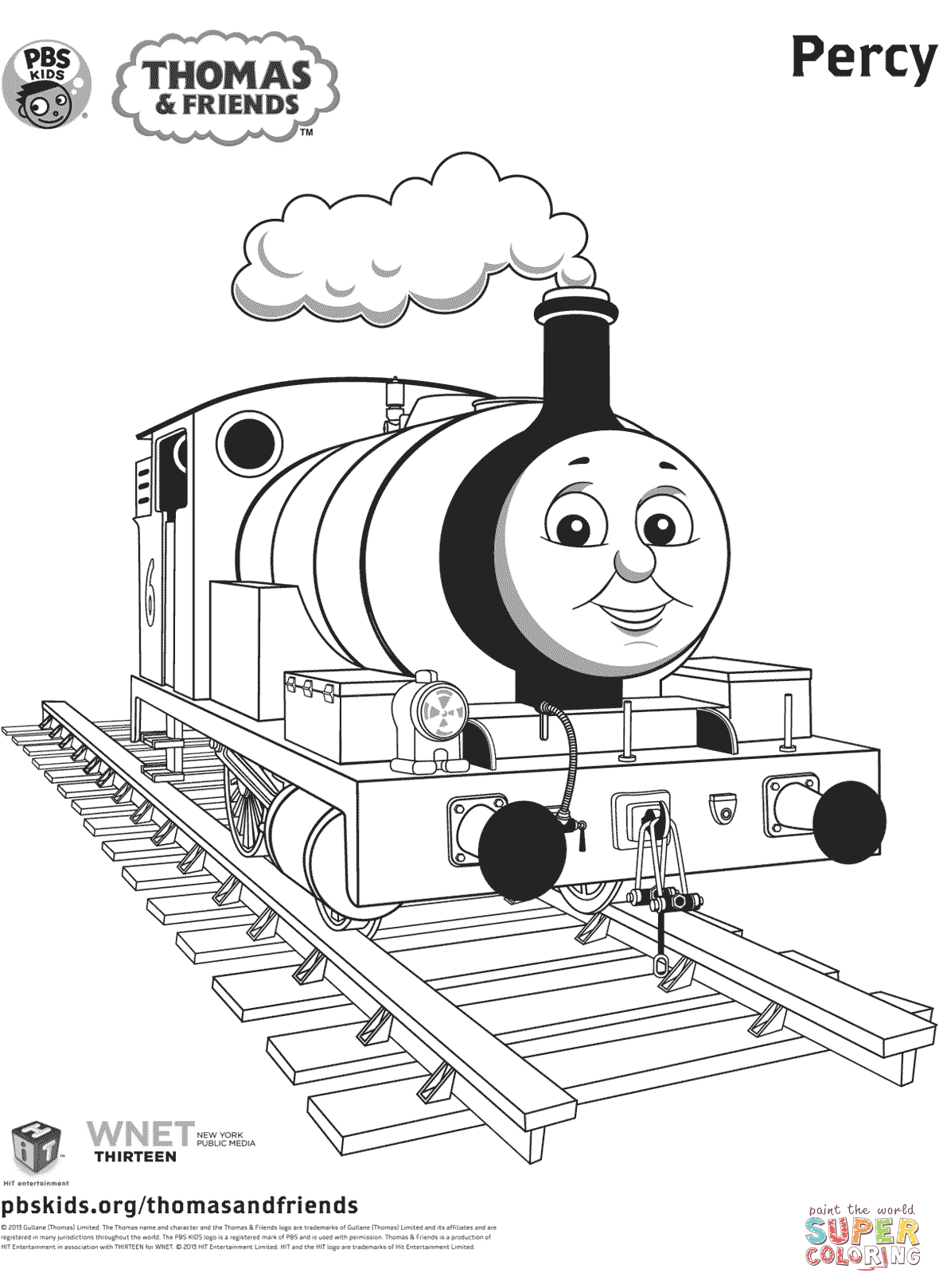 Thomas Train Coloring Pages Printable Sketch Coloring Page