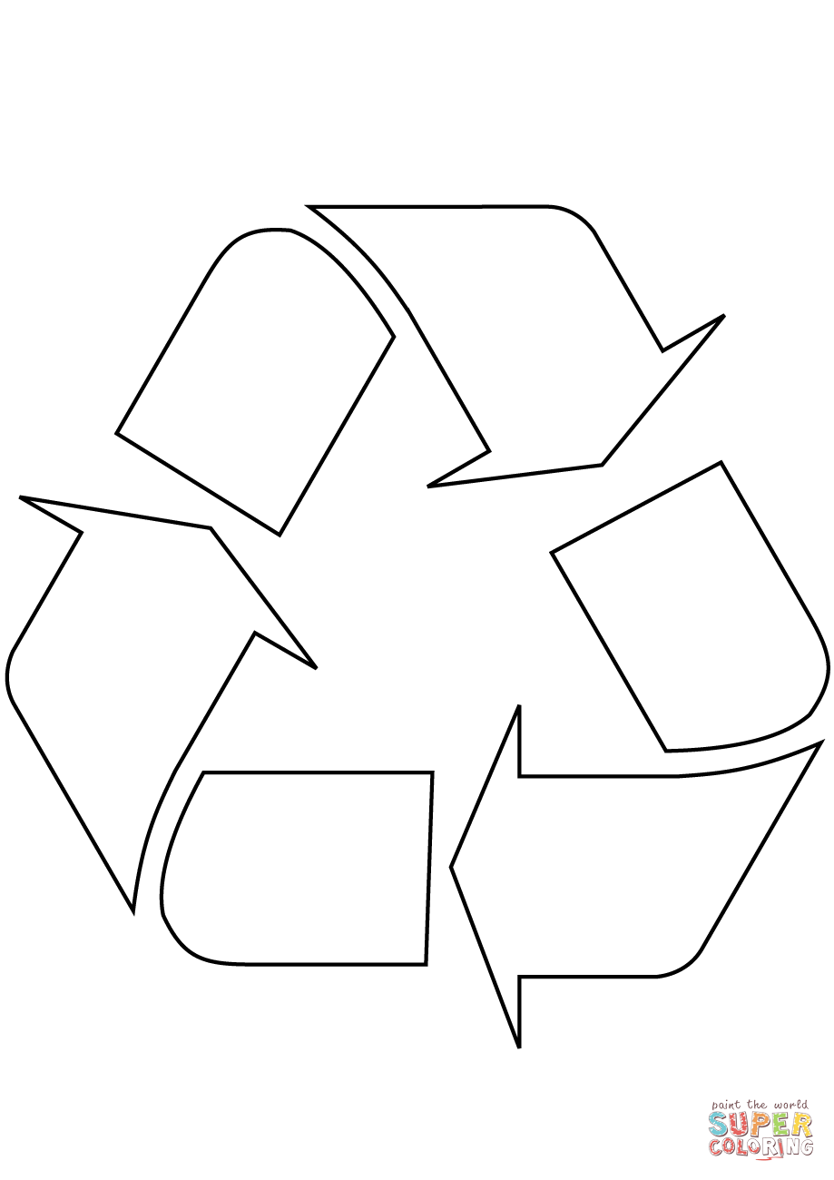 recycling logo coloring page free printable coloring pages