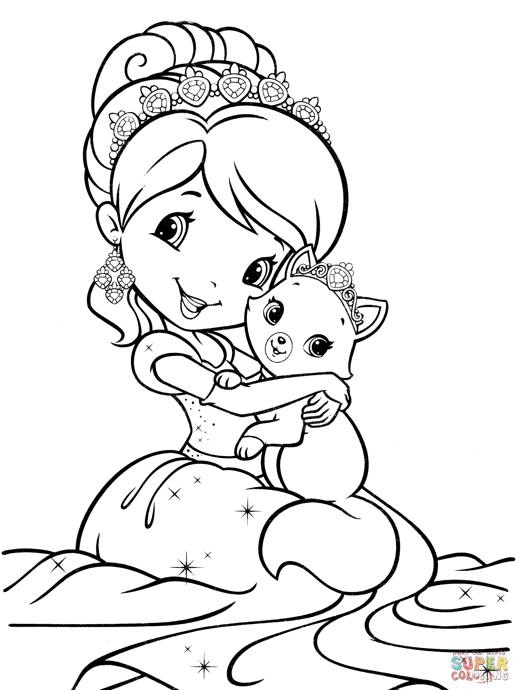 Strawberry Shortcake Mermaid Coloring Page